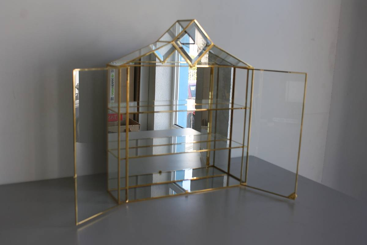 glasvitrine swarovski figuren t r spiegel gold setzkasten glas 6660 ebay. Black Bedroom Furniture Sets. Home Design Ideas