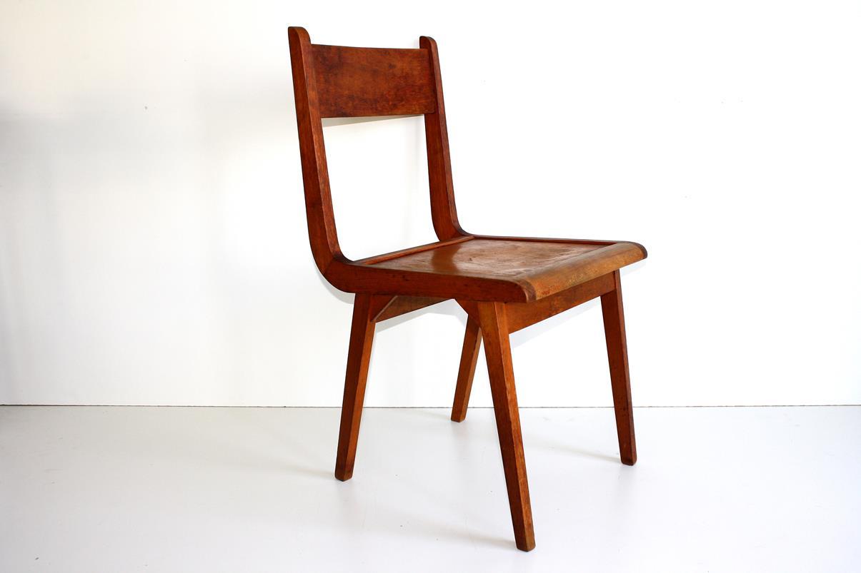 50er jahre stuhl ddr design hellerau vintage wooden chair for Stuhl fabrik design