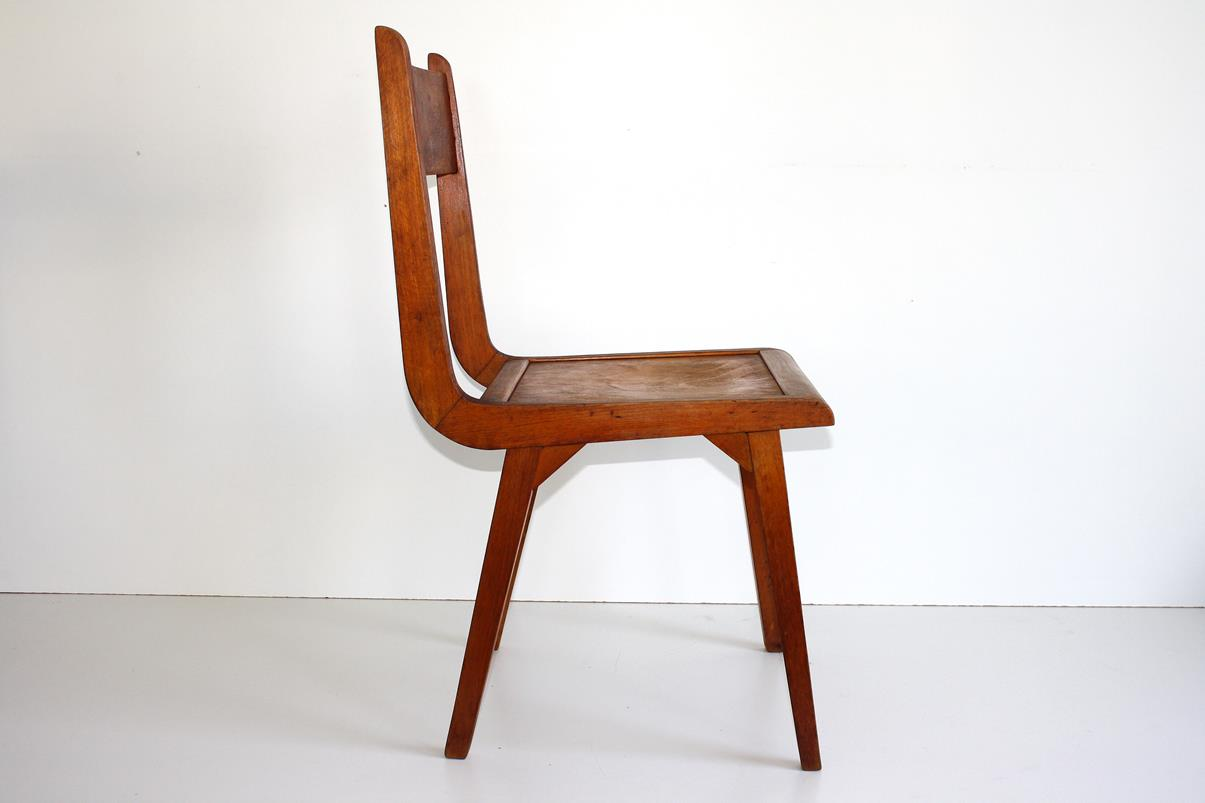 50er jahre stuhl ddr design hellerau vintage wooden chair for Design stuhl ddr